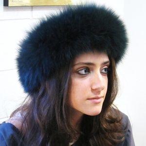 Accessories - Genuine Fox Fur Headband Forest Green NEW